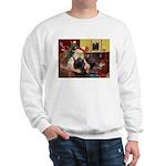 Santa's Black Cocker Sweatshirt