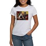 Santa's Black Cocker Women's T-Shirt