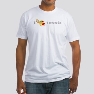 I Love Tennis Fitted T-Shirt