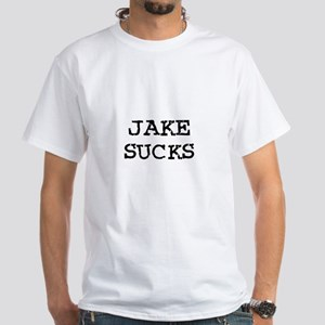 Jake Sucks White T-Shirt