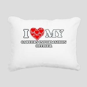 I Love my Careers Inform Rectangular Canvas Pillow