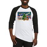 Xmas Magic & Airedale pair Baseball Jersey