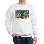 Xmas Magic & Airedale pair Sweatshirt