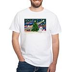 Xmas Magic & Eskimo Spitz White T-Shirt