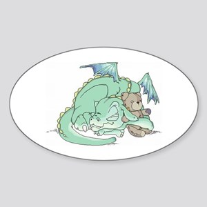 Baby Dragon Oval Sticker