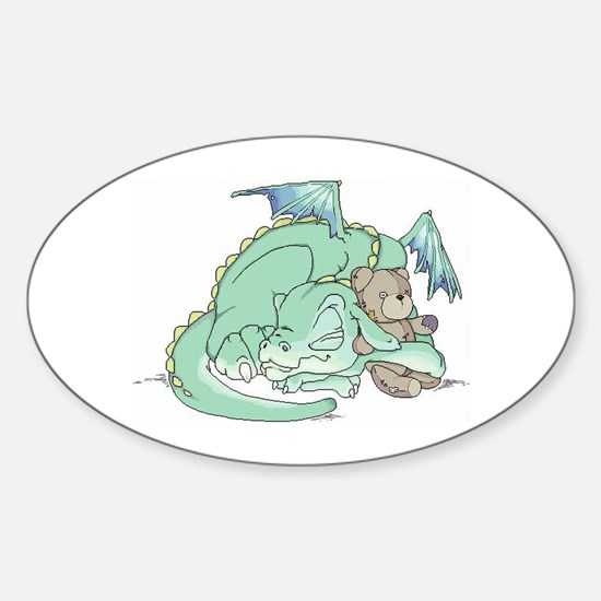 Baby Dragon Oval Decal