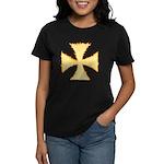 Burning Templar Cross Women's Dark T-Shirt
