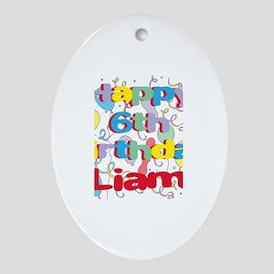 Liam's 6th Birthday Oval Ornament