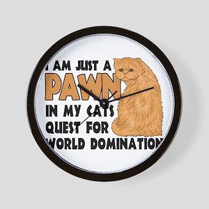 Cat's World Domination Wall Clock