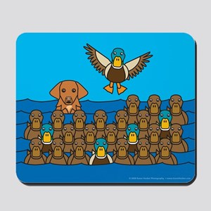 Toller in Ducks Mousepad