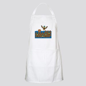 Toller in Ducks BBQ Apron