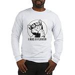 I HAS A FLAVOR - cat retro Long Sleeve T-Shirt