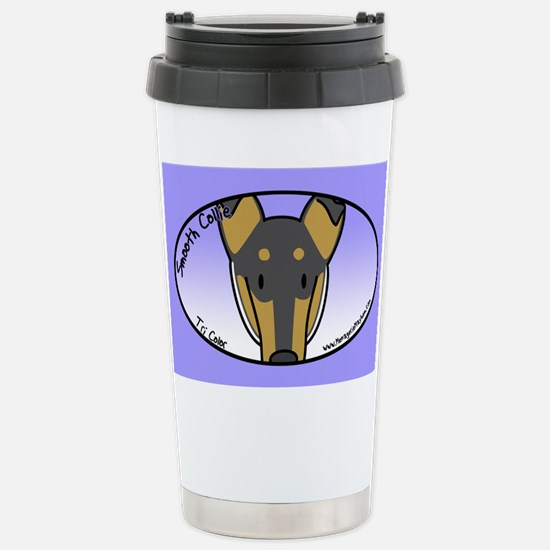Anime Tri Smooth Collie Stainless Steel Travel Mug