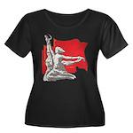 VeryRussian.com Women's Plus Size Scoop Neck Dark