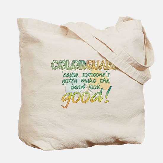 Vintage Colorguard Green Tote Bag