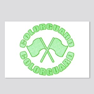 Vintage Colorguard Green Postcards (Package of 8)