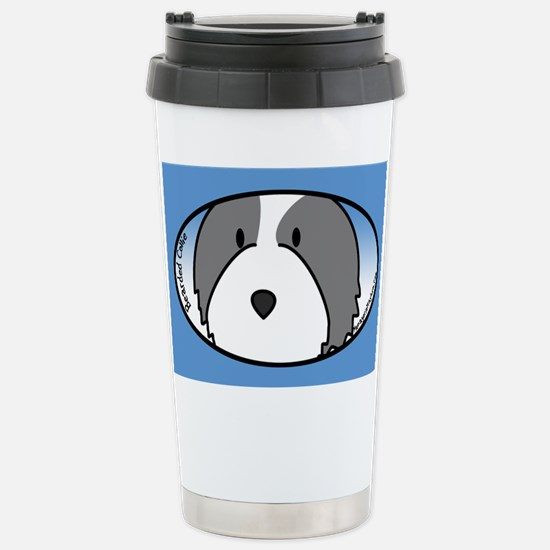 Anime Bearded Collie Stainless Steel Travel Mug