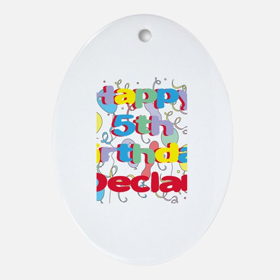Declan's 5th Birthday Oval Ornament