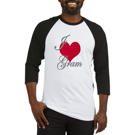 I love (heart) Gram Baseball Jersey