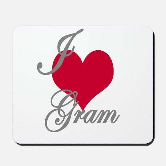 I love (heart) Gram Mousepad