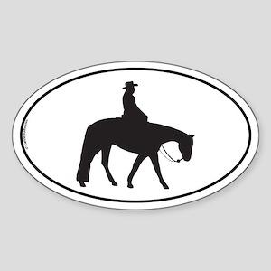 Quarter Horse Oval Sticker