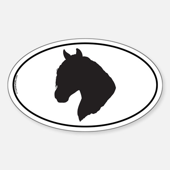 Peruvian Paso Oval Decal