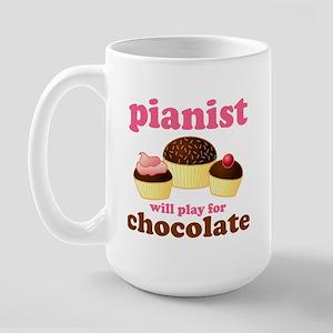 Chocolate Pianist Large Mug