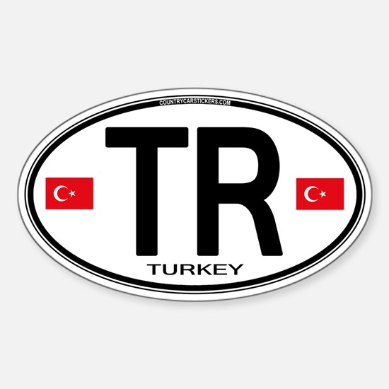 Turkey Euro Oval Sticker (Oval)