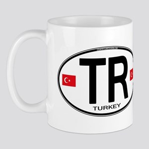 Turkey Euro Oval Mug