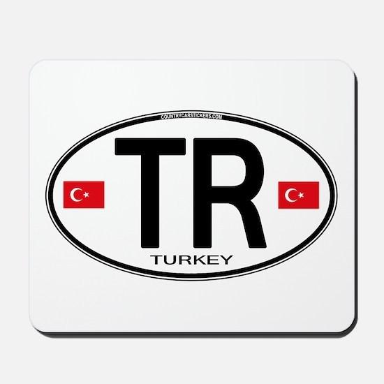 Turkey Euro Oval Mousepad