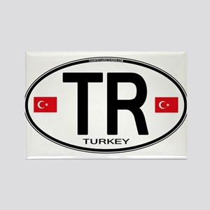 Turkey Euro Oval Rectangle Magnet