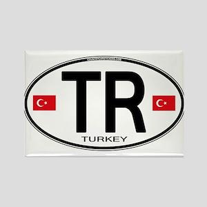 Turkey Euro Oval Rectangle Magnet