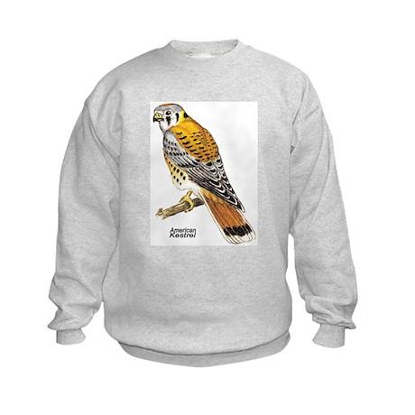 American Kestrel Bird Kids Sweatshirt