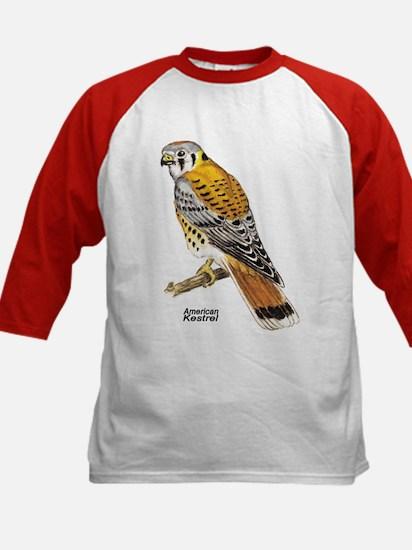 American Kestrel Bird (Front) Kids Baseball Jersey