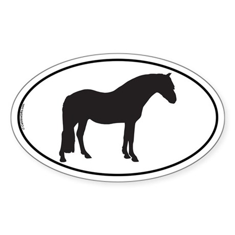 Connemara Pony Oval Sticker