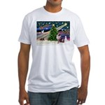 XmasMagic/Aussie (#1) Fitted T-Shirt