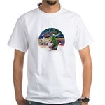 XmasMagic/Aussie (#1) White T-Shirt