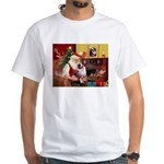 Santa's Aussie (#1) White T-Shirt