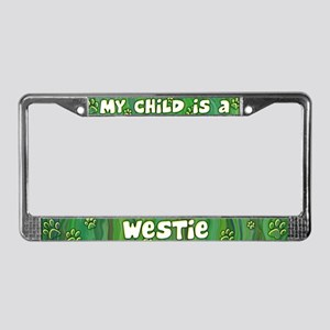 My Kid Westie License Plate Frame