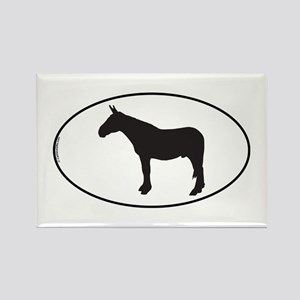 Army Mule Rectangle Magnet