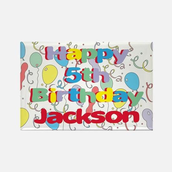 Jackson's 5th Birthday Rectangle Magnet