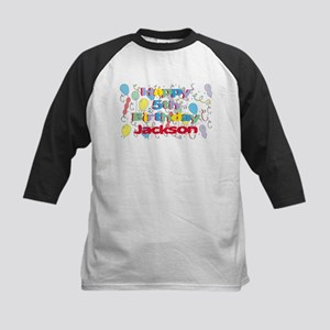 Jackson's 5th Birthday Kids Baseball Jersey