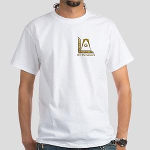"Masonic Modern ""On the Square"" White T-Shirt"