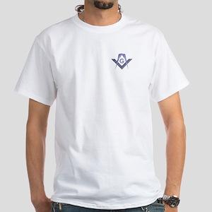 Masonic Modern Square & Compasses White T-Shirt