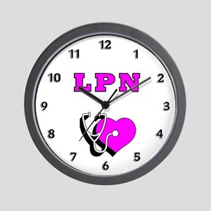 LPN Nurses Care Wall Clock
