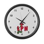 LPN Rose Large Wall Clock