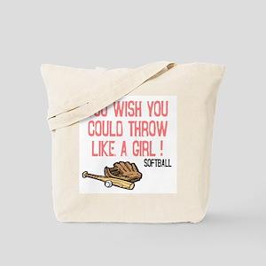 Throw Like a Girl Tote Bag