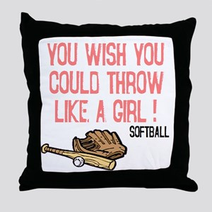 Throw Like a Girl Throw Pillow
