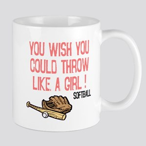 Throw Like a Girl Mug