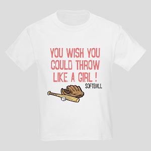 Throw Like a Girl Kids Light T-Shirt